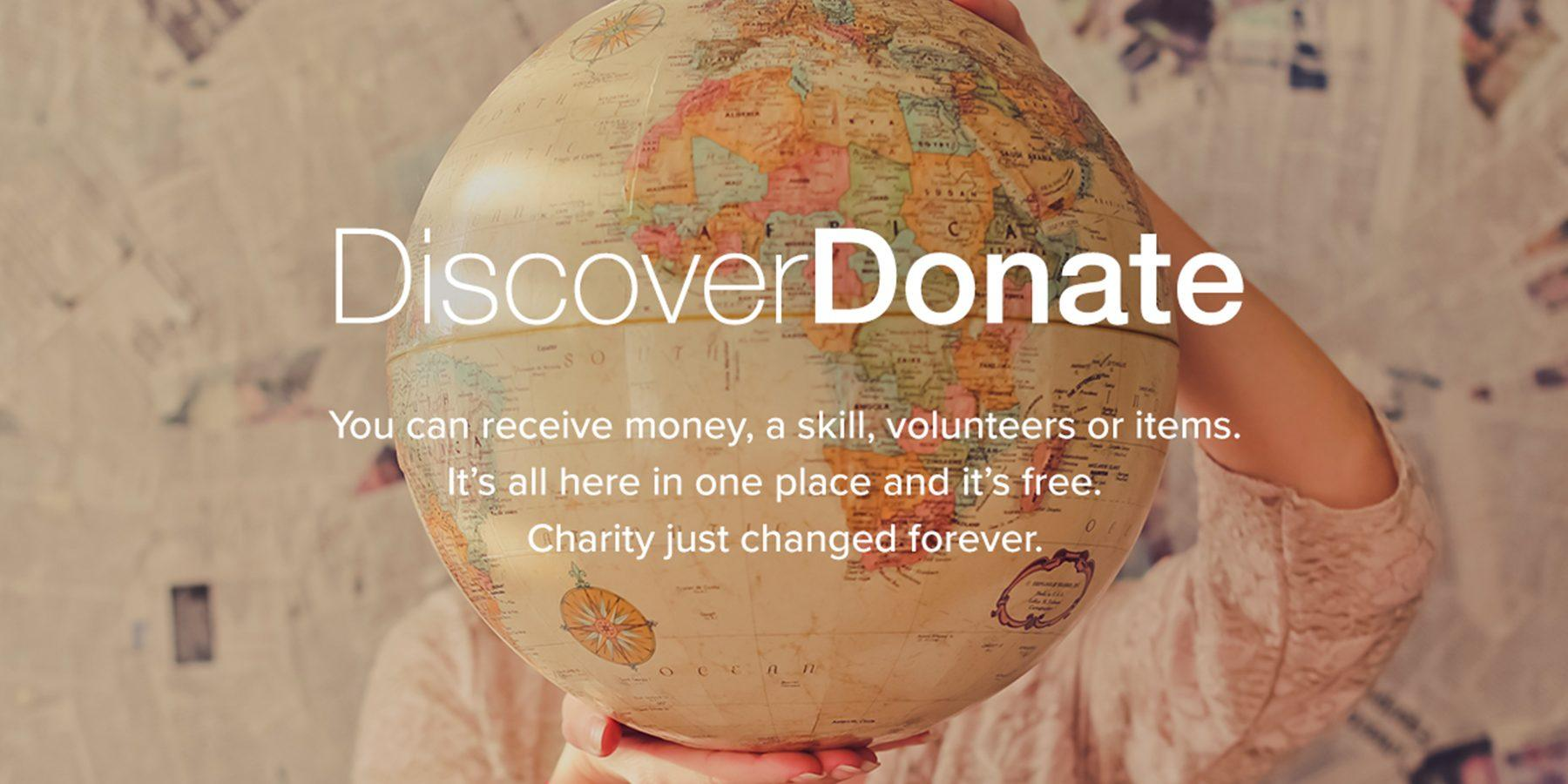 DiscoverDonate Ready to Launch